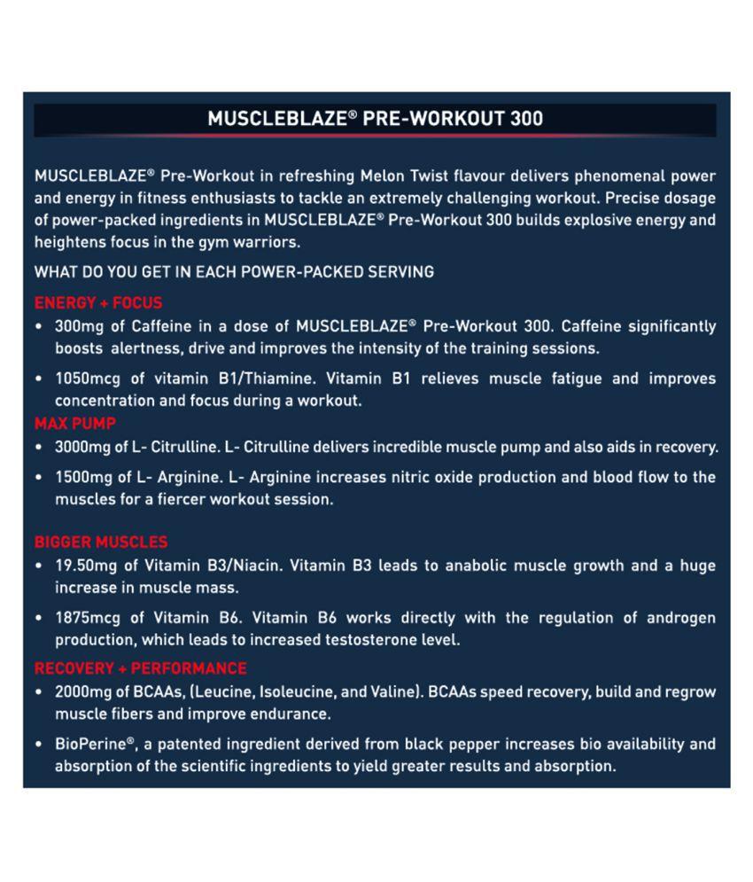 MuscleBlaze PRE Workout 300 250 gm