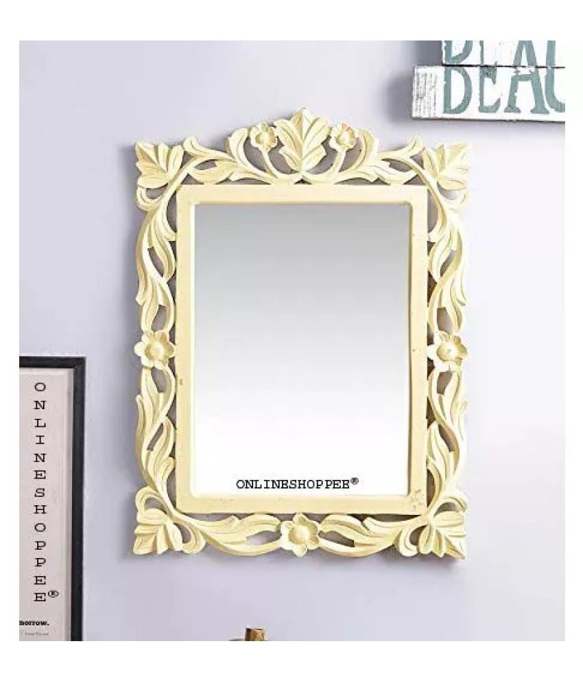 Onlineshoppee Mirror Wall Mirror Yellow ( 61 x 1 cms ) - Pack of 1