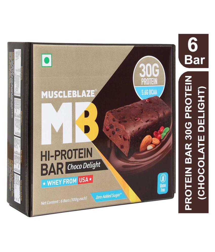 MuscleBlaze Protein Bar with 30g protein & Zero added ...