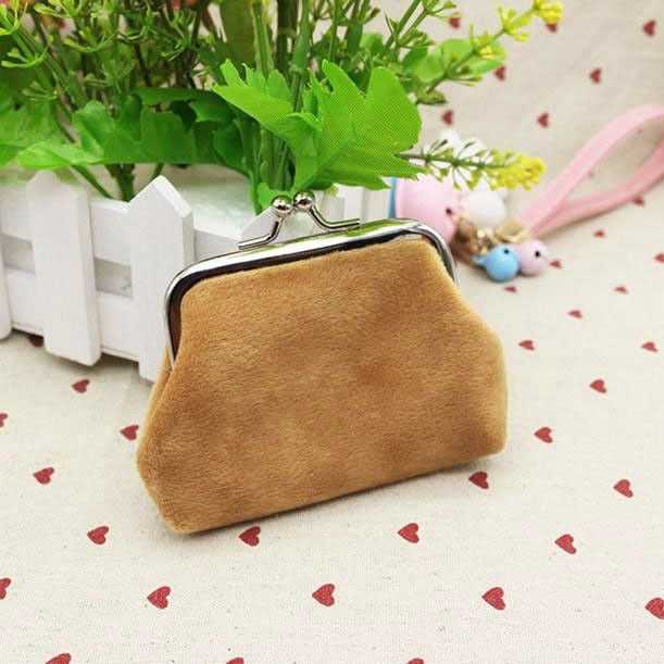 Pouches Bags and Storage for Your Fashion Needs Brown Womens Corduroy Small Wallet Holder Coin Purse Clutch Handbag Bag BW