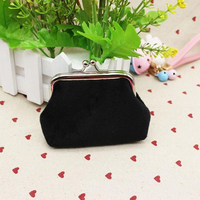 Pouches Bags and Storage for Your Fashion Needs Black Womens Corduroy Small Wallet Holder Coin Purse Clutch Handbag Bag BK