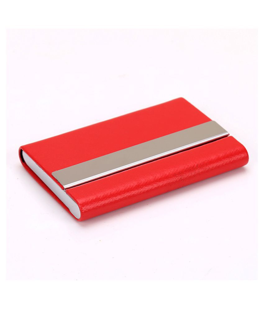 Pouches Bags and Storage for Your Fashion Needs Red Women Men ID Credit Card Protector Wallet Card Holder Package Box