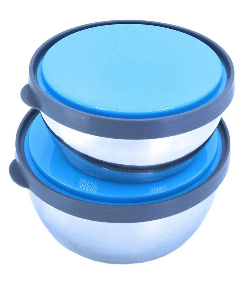 Ivarian Steel Food Container Set of 2 1050 mL