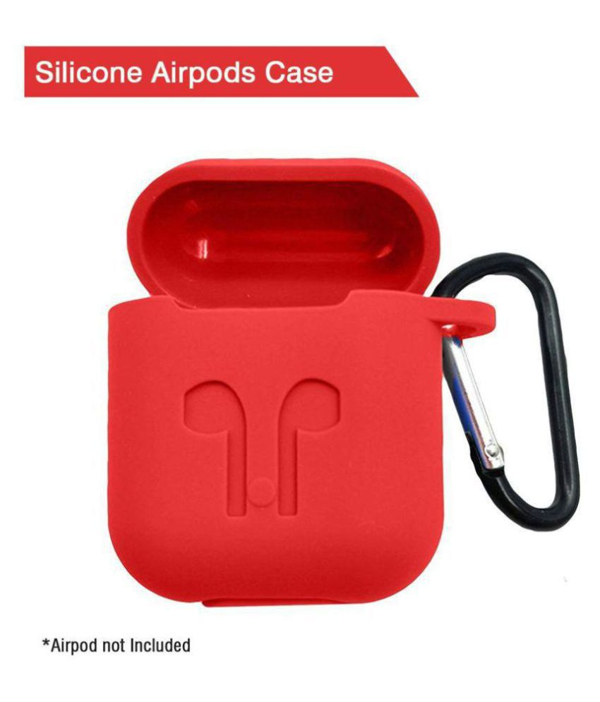 detailed look d9a21 2604c TOTU Red Airpods Case Cover Accessories Case Airpods Protective Silicone  Case for Apple Airpod Charging Case with Anti-lost Strap, Premium Quality  ...