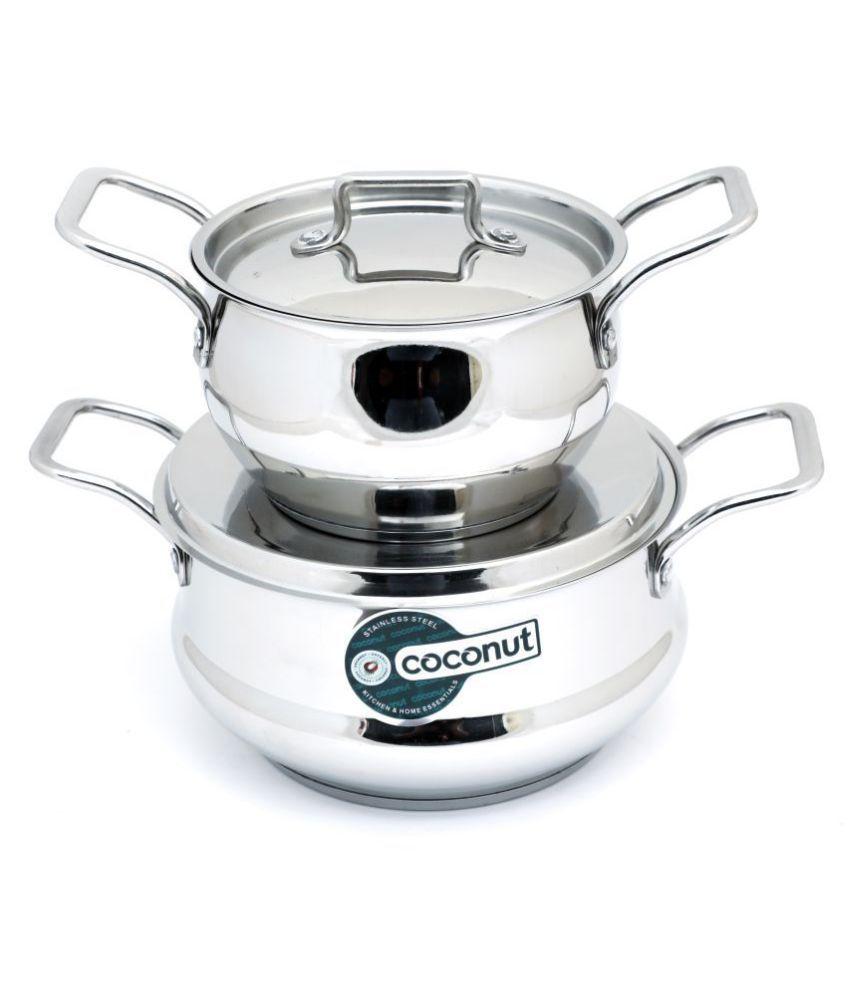 Coconut Rexona Pot 2 Piece Cookware Set