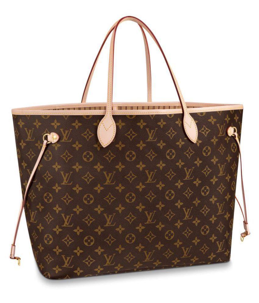 Women Fashion Louis Vuitton Brown Faux