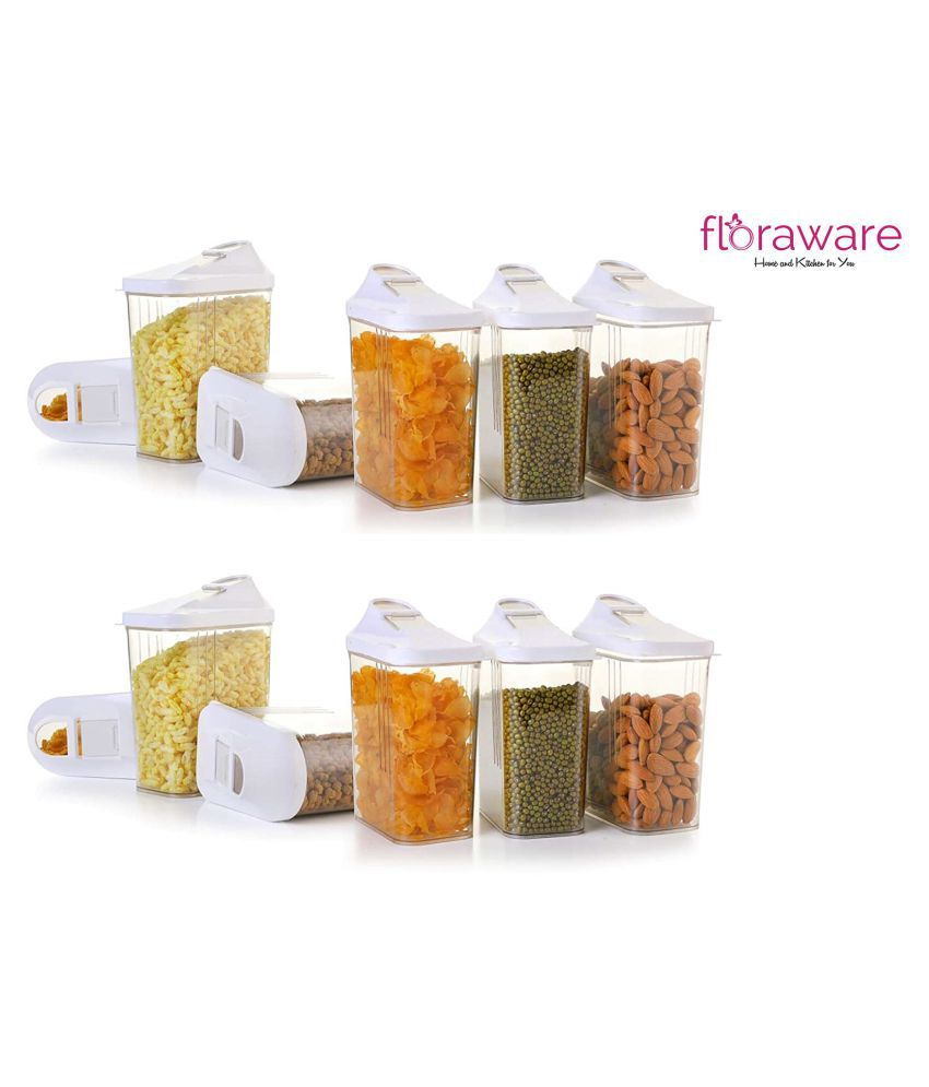 Floraware Polyproplene Dal Container Set of 12 750 mL