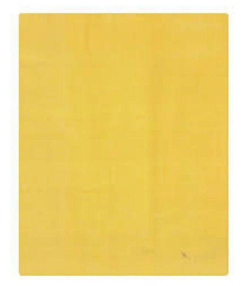 NS Fabric Yellow 100 Percent Cotton Unstitched Shirt pc