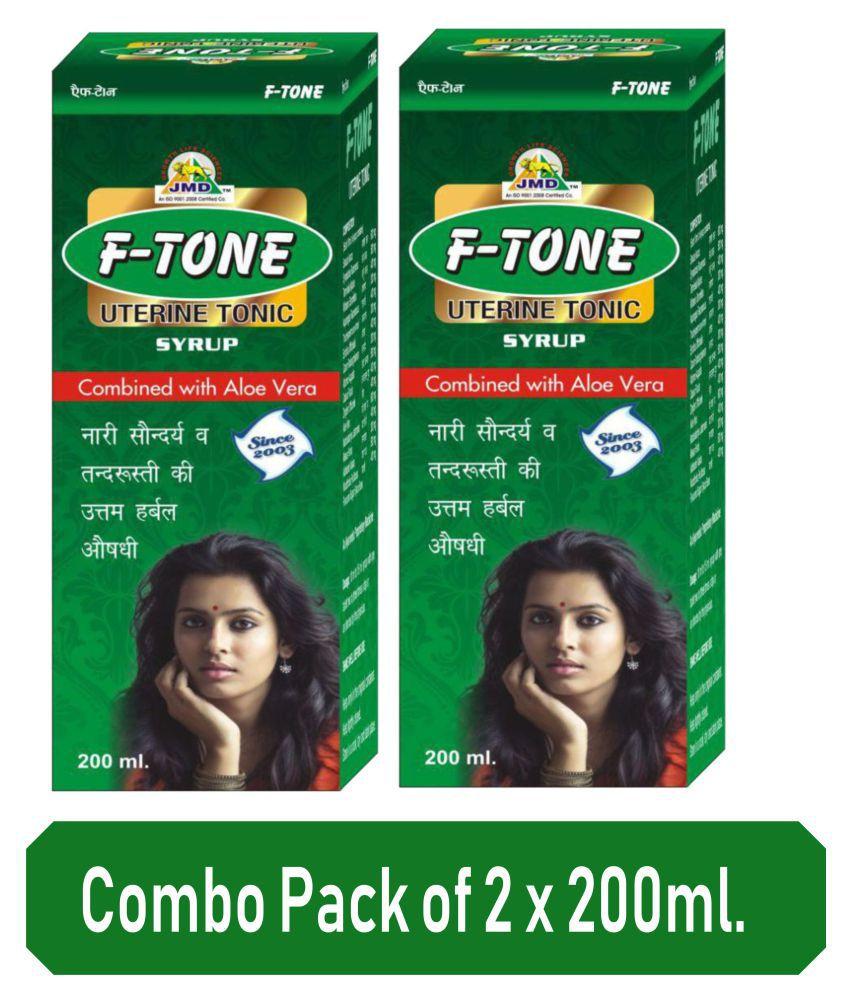 JMD Growth F TONE UTERINE / HEALTH TONIC 200ML. Liquid 200 ml Pack Of 2