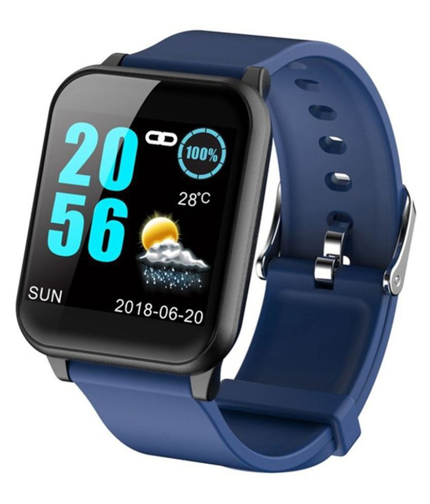 OPTA-SB-099 Blueto.oth Heart Rate Sensor Smart Band and Fitness Tracker for All Android/iOS Mobile(Blue)