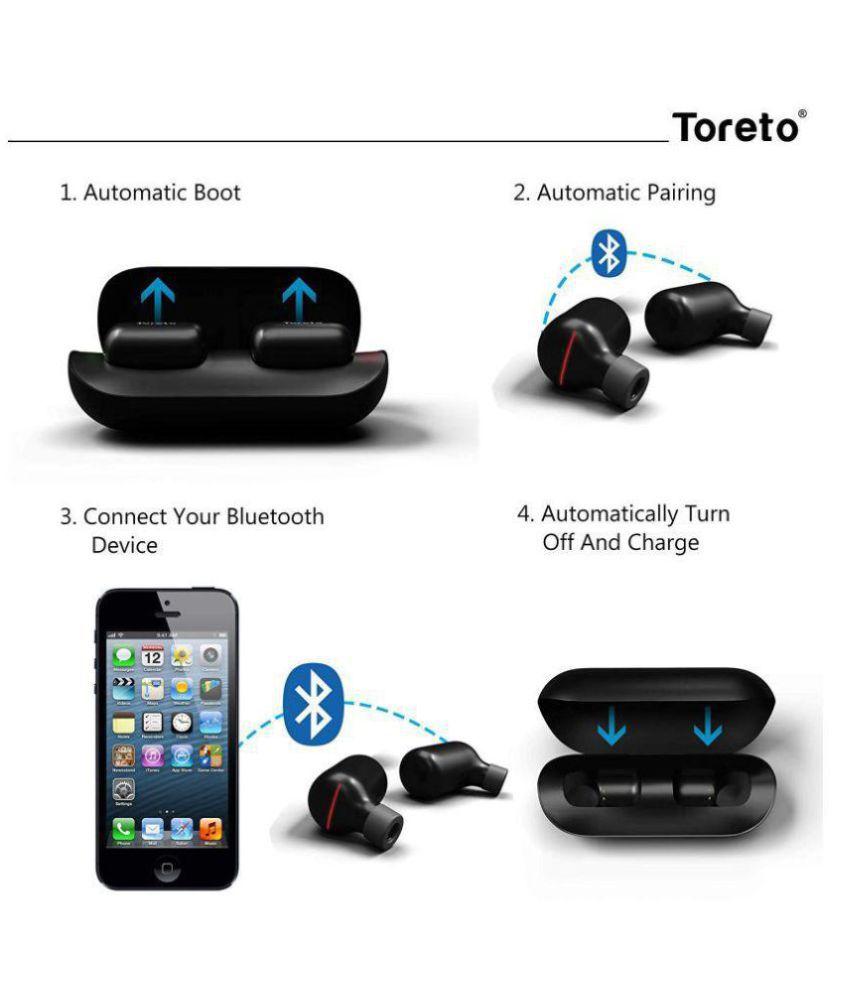 Toreto TOR-271 Ear Buds Wireless Earphones With Mic