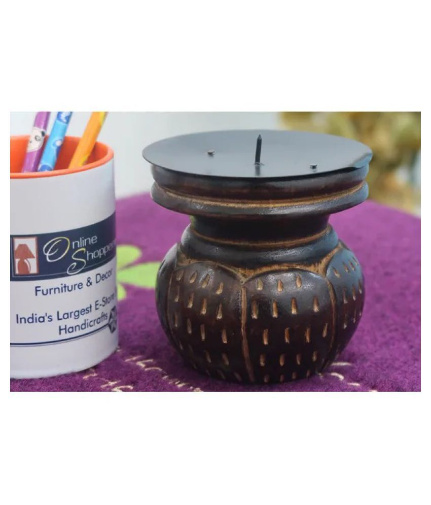 Onlineshoppee Brown Jar Candle - Pack of 1