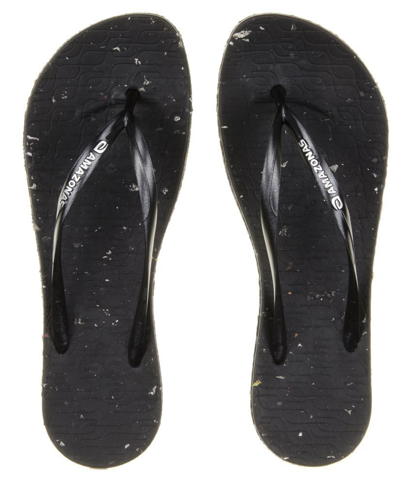 AMAZONAS Black Slippers