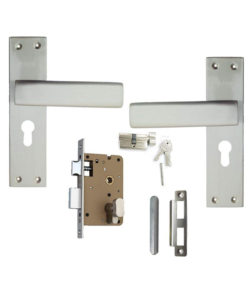 Mortice Handle, Mortice Lock, Door Lock, Lock, Atom G-9 C.Y With OSK Lock Satain Finish