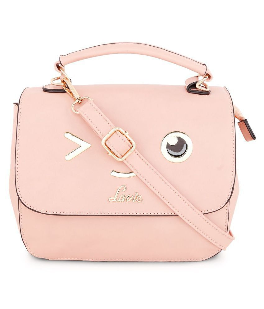 Lavie Pink P.U. Shoulder Bag