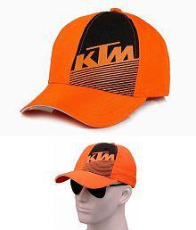 FAS KTM Orange Printed Cotton Caps