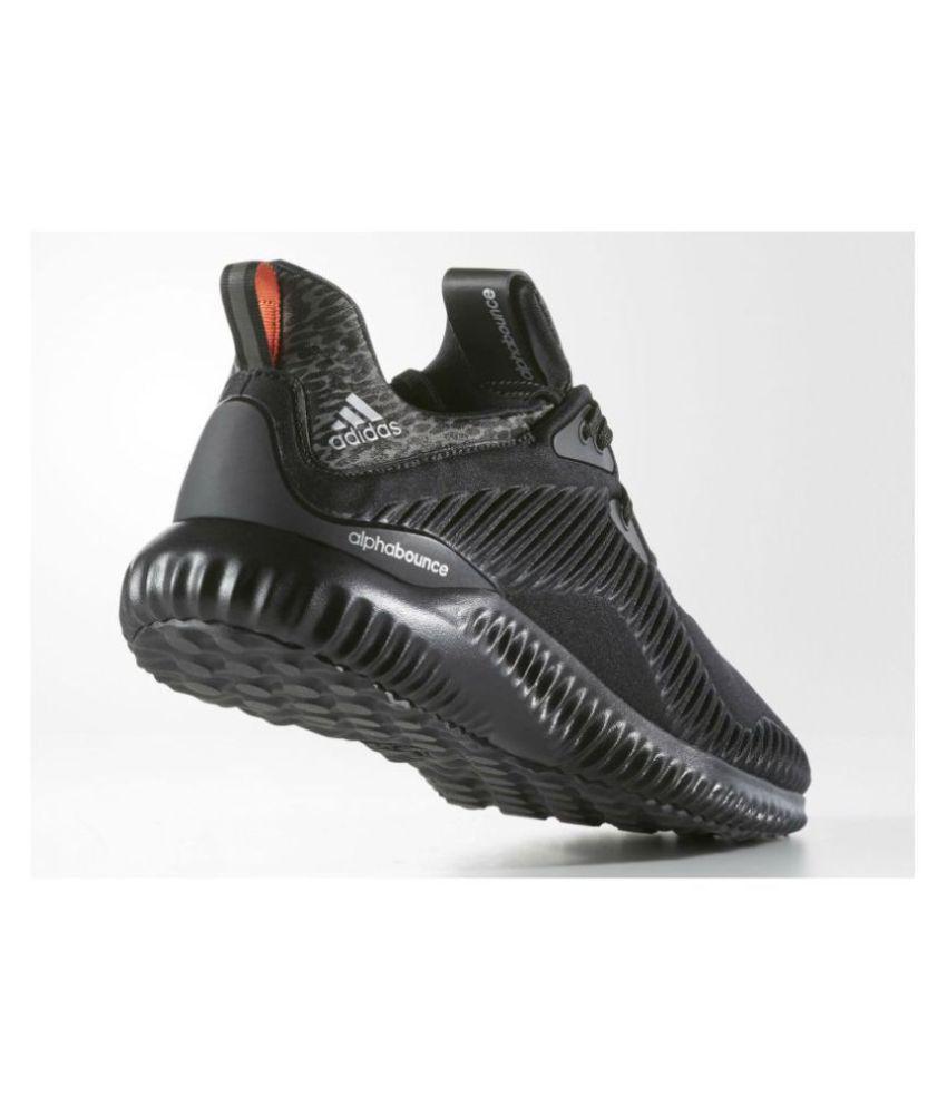 acheter en ligne c43c2 02b0c Adidas Alpha Bounce Black Running Shoes