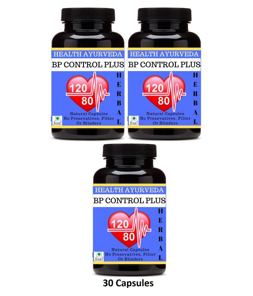 Health Ayurveda BP Control Plus   Ayurvedic BP Control Capsule 90 no.s Pack of 3