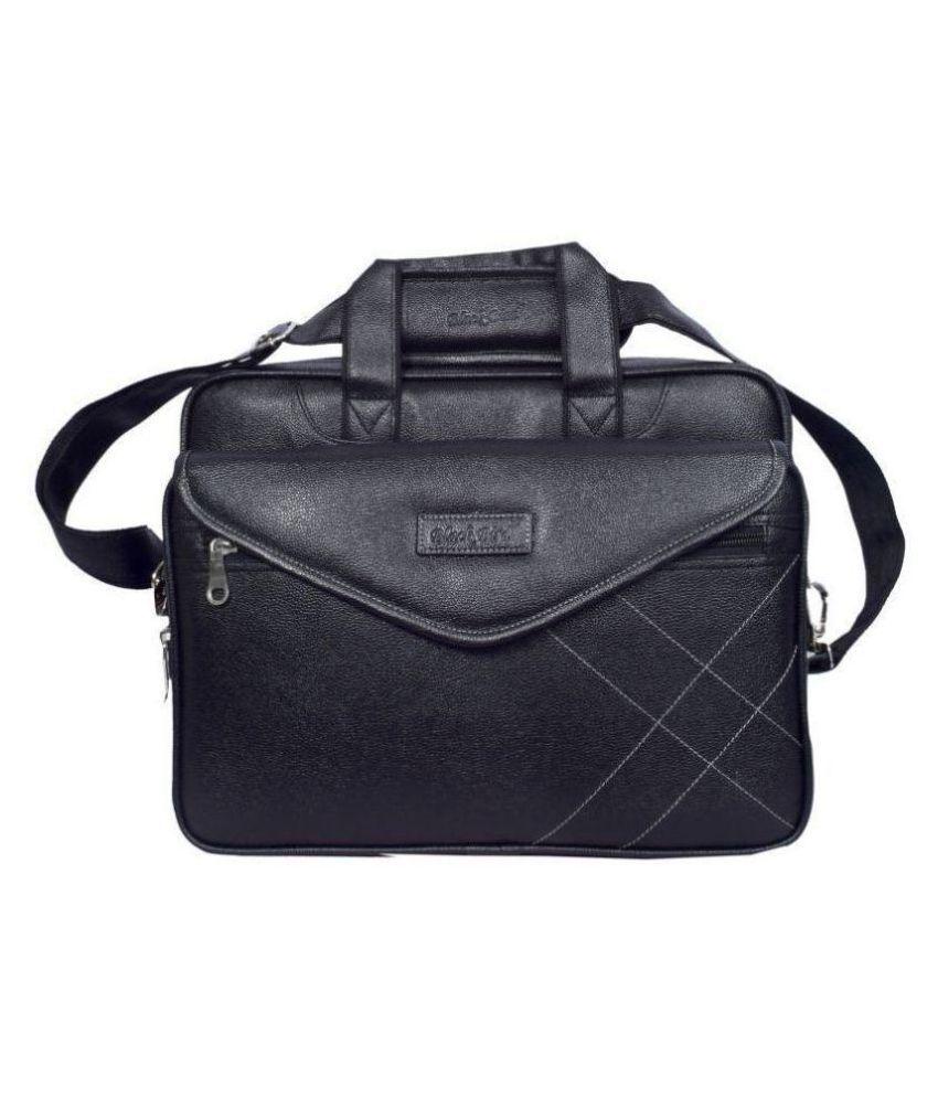 Black Bird Black Synthetic Office Bag
