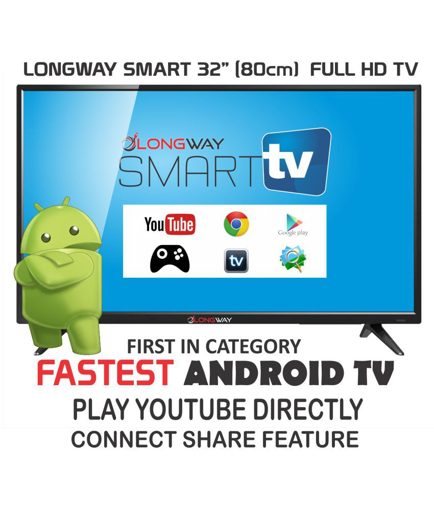 LONGWAY S7005 80 cm ( 32 ) Smart Full HD (FHD) LED Television With 1+1 Year Extended Warranty