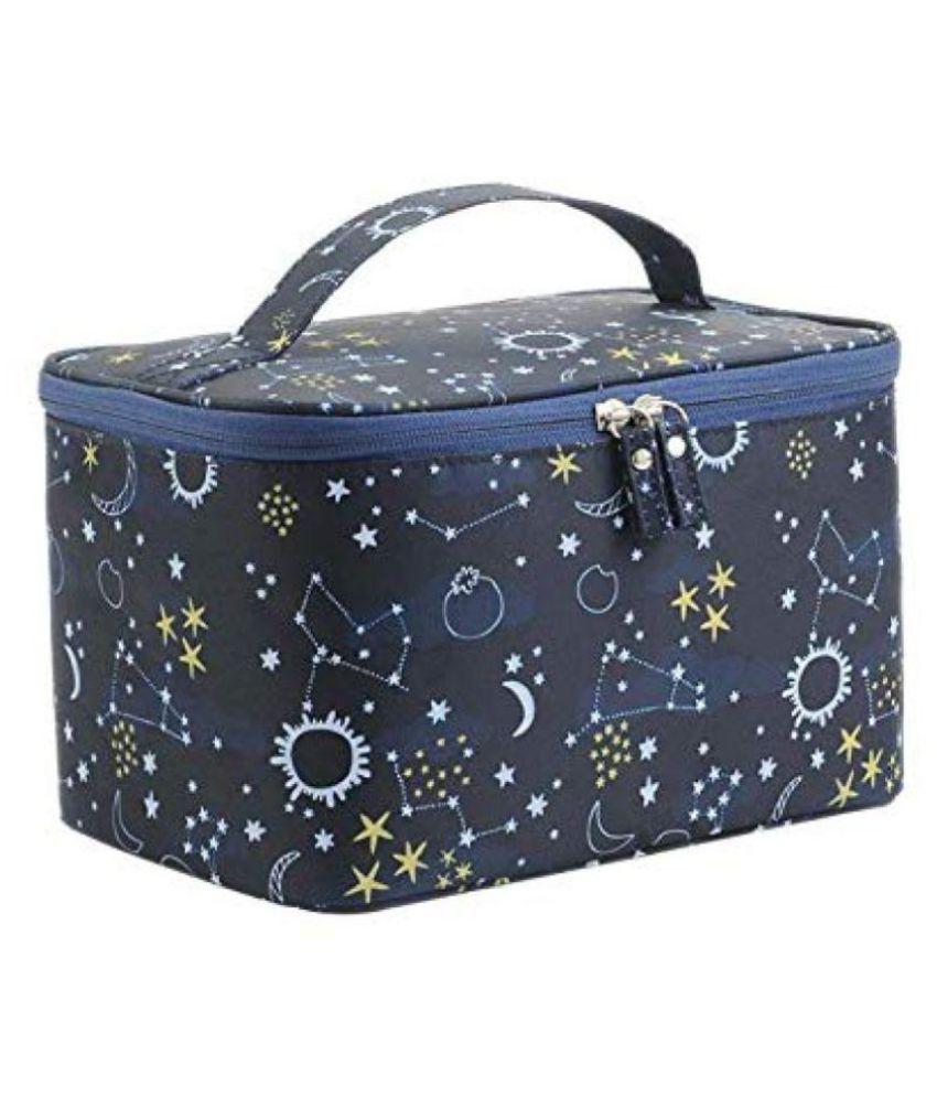 SGM Blue Multifuctional Professional Makeup Organizer Bag