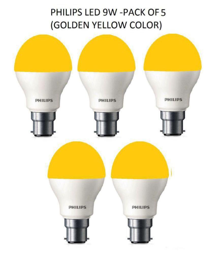 Philips 9W LED Bulb Warm White - Pack of 5