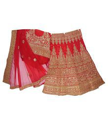 9bb567ac96 Quick View. BODY CONTOURS Red Raw Silk A-line Semi Stitched Lehenga