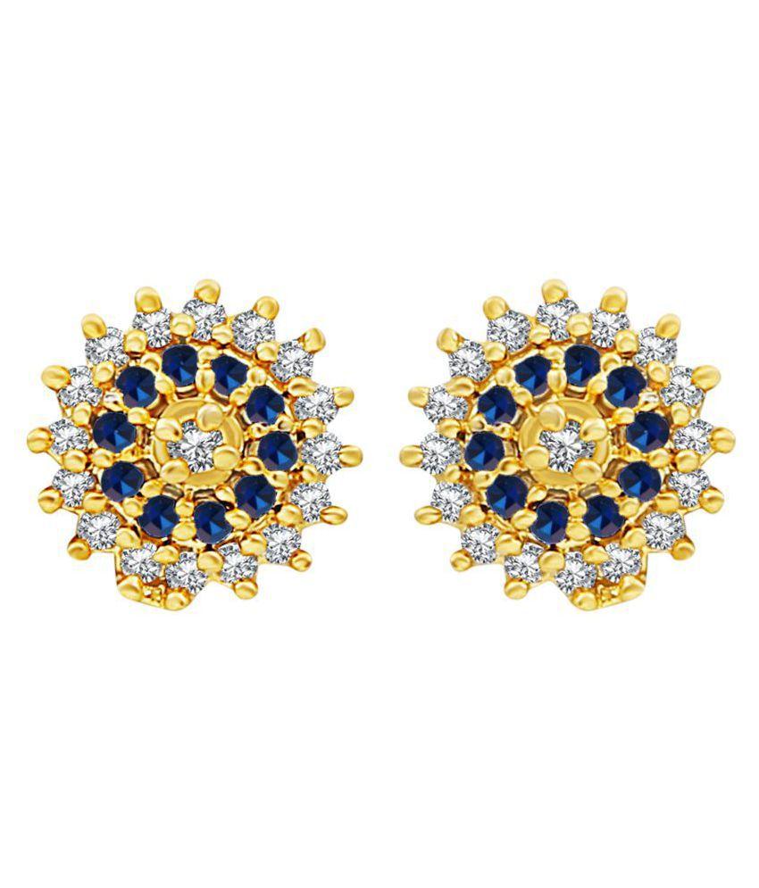 MFJ Fashion Jewellery Fabulous Brass Gold Plated Stud Earring For Women