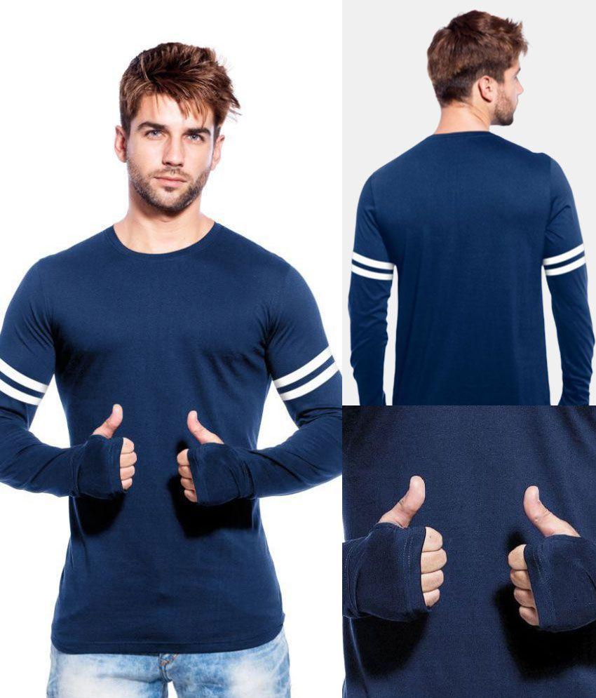 Maniac Navy Round T-Shirt Pack of 1