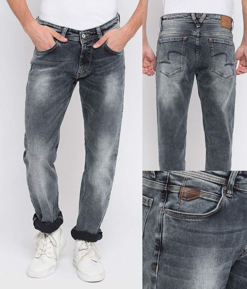 Spykar Grey Slim Jeans