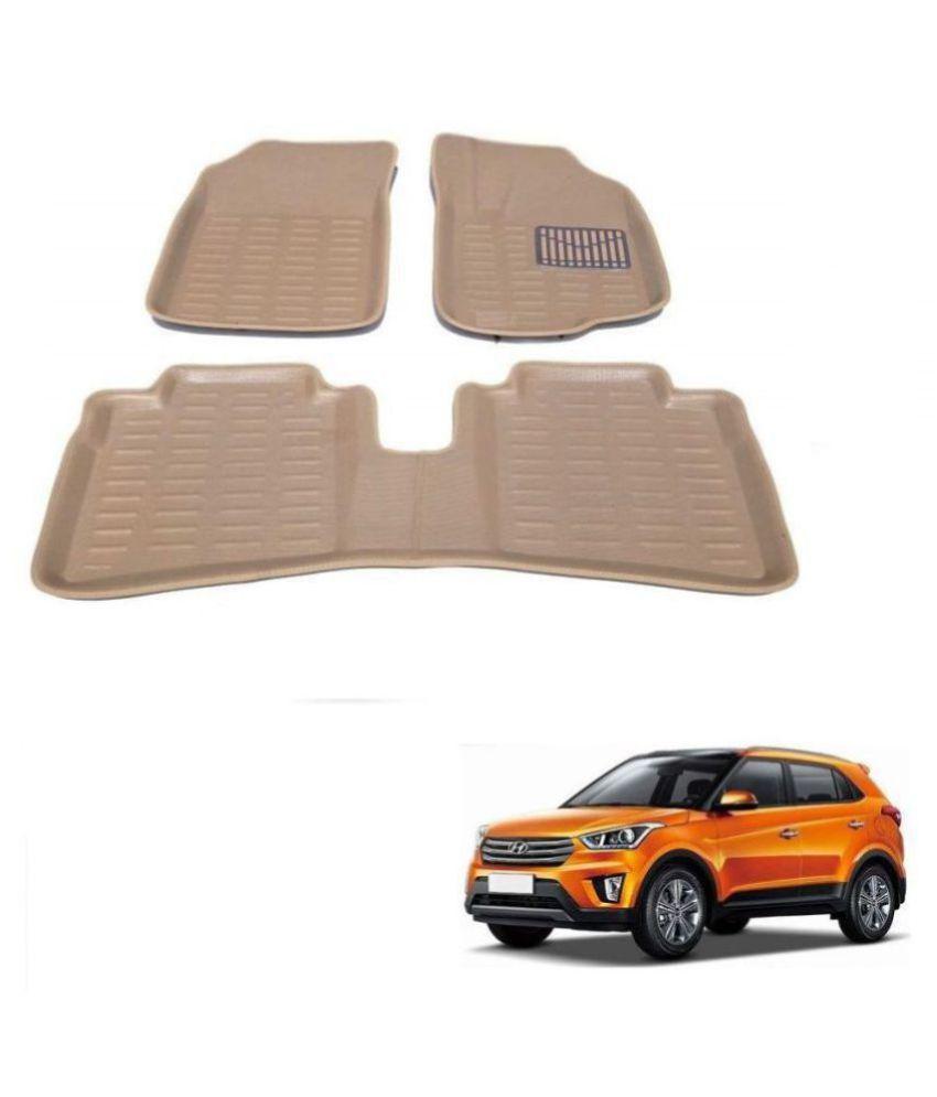 Auto Addict Car 3D Mats Foot mat Beige Color for Hyundai Creta