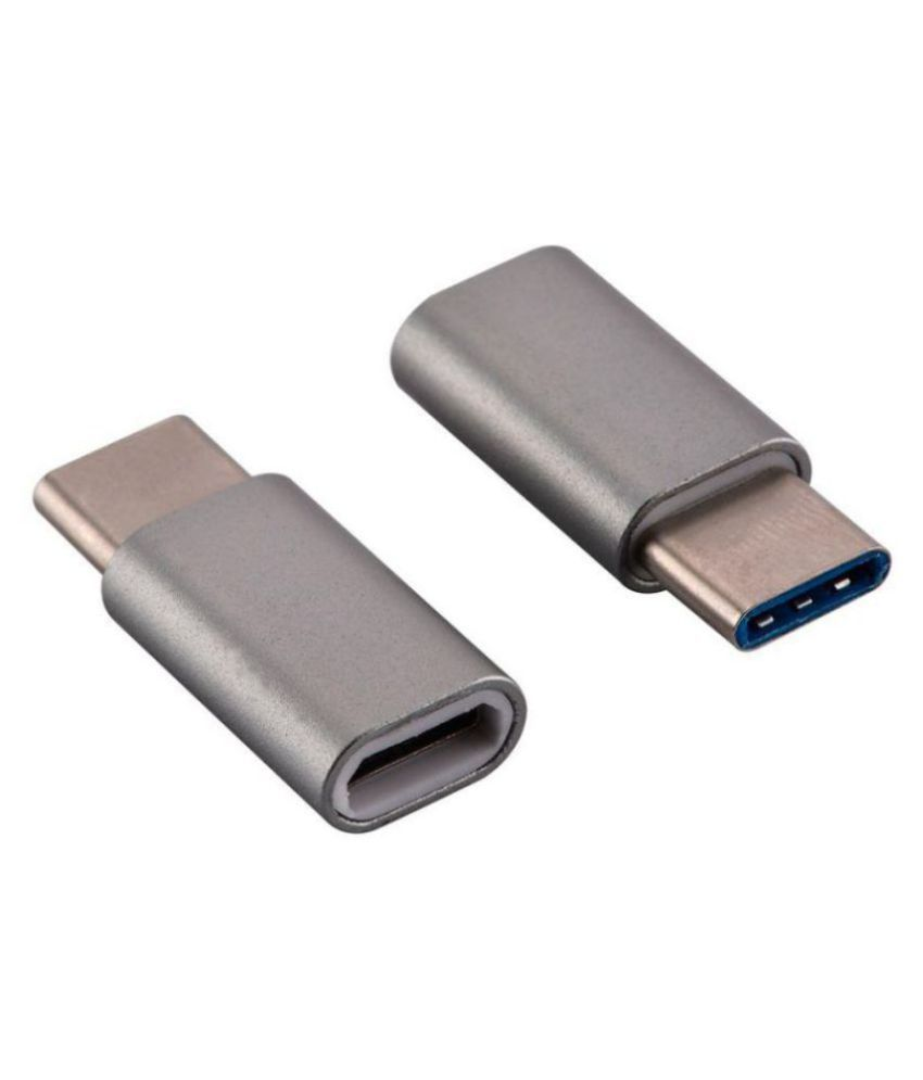 GADGETSMORE Type-C to Micro USB OTG adapter For Smartphones And Other Type-C OTG supported Devices(PACK OF 2)