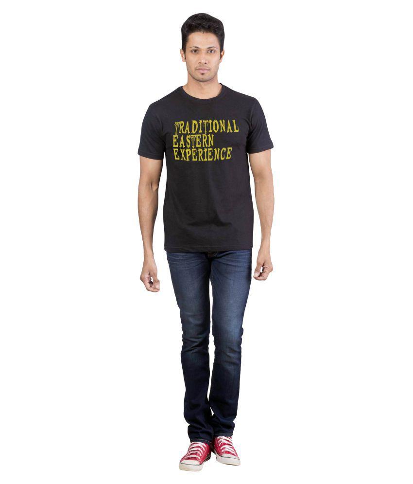 Avivee 100 Percent Cotton Black Printed T-Shirt