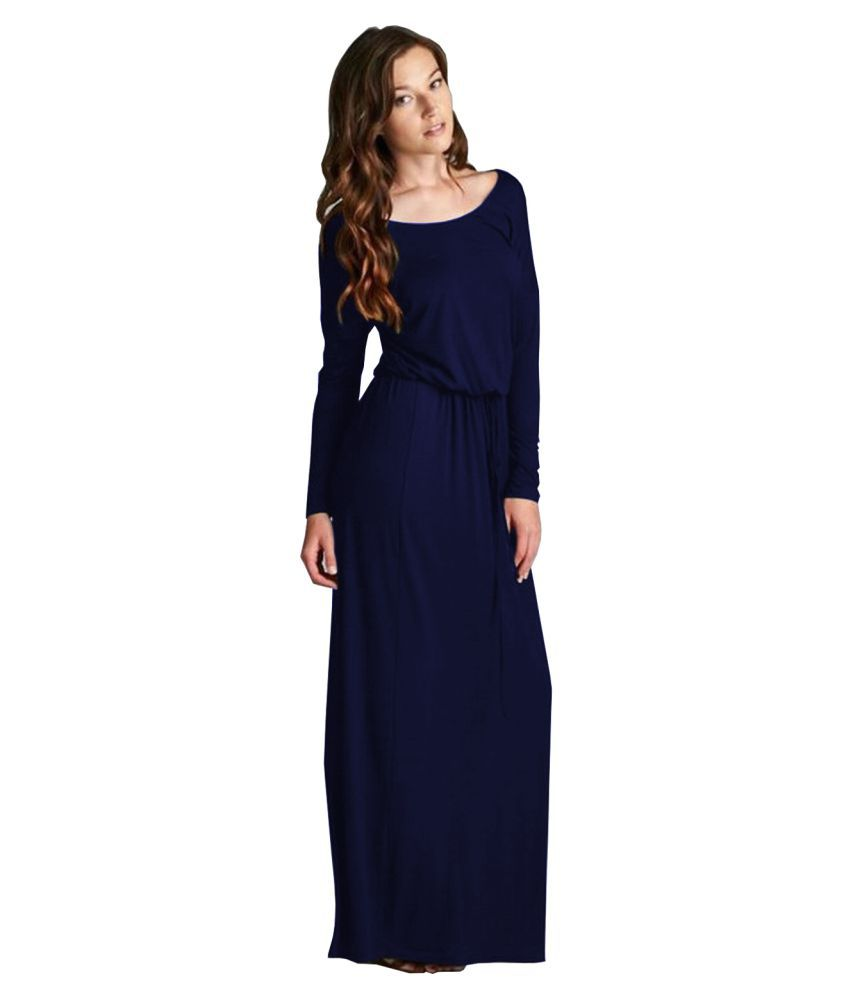 Ritsila Rayon Blue A- line Dress