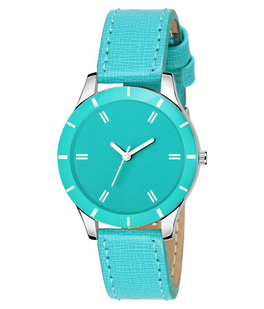 VeBNoR Leather Round Womens Watch