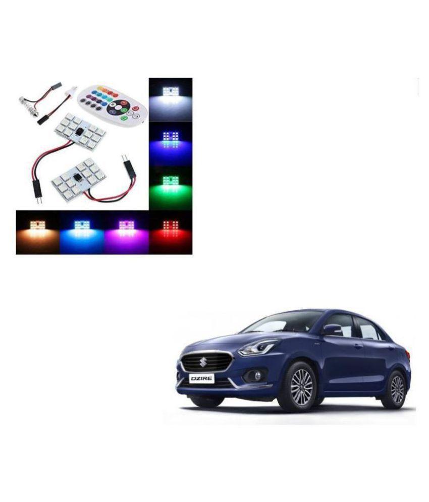 Auto Addict. Car 12 LED RGB Roof Light with IR Remote Car Fancy Lights For Maruti Suzuki New Swift Dzire 2017