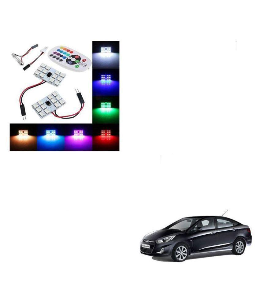 Auto Addict Car 12 LED RGB Roof Light with IR Remote Car Fancy Lights For Hyundai Verna Fluidic