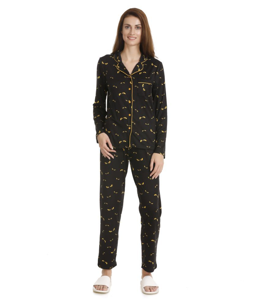 Zivame Polyester Nightsuit Sets - Multi Color