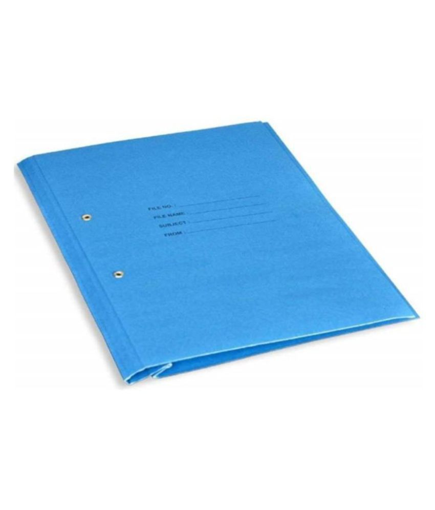 Helloperfect PAPER CLIP FILE  (Set Of 3, Blue)
