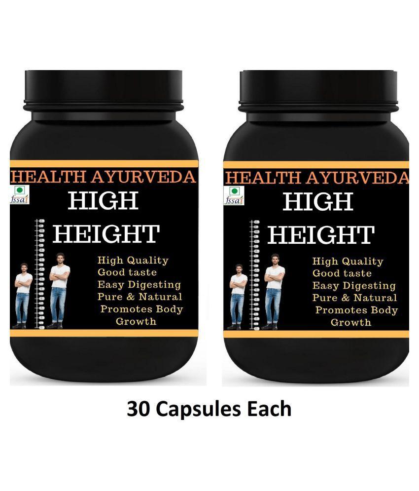 Health Ayurveda High Height | Height Badhane Ki Dawa Capsule 60 no.s Pack Of 2