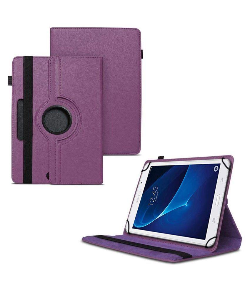 Samsung Galaxy J Max Tab Flip Cover By TGK Purple