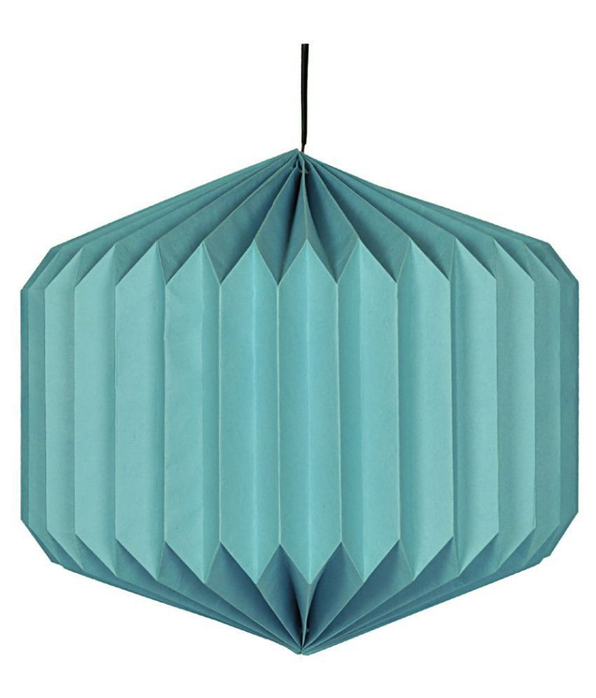 Lal Haveli Paper Decorative Hanging Lantern Ceiling Lamp Pendant Turquoise - Pack of 1