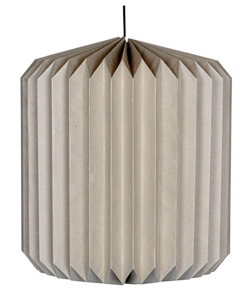 Lal Haveli Paper Decorative Hanging Lamp Night Light  Pendant Gray - Pack of 1