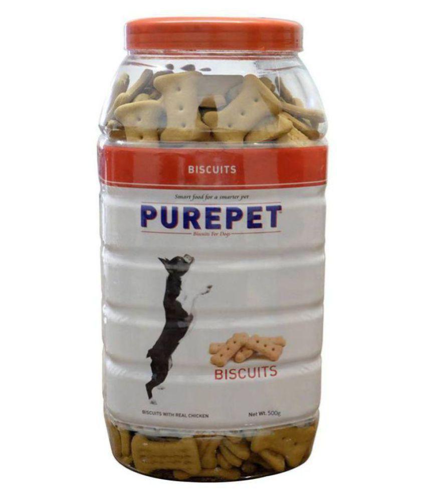 Purepet M.utton Flavour, Real Chicken Biscuit,Dog Treats- Jar, 500g