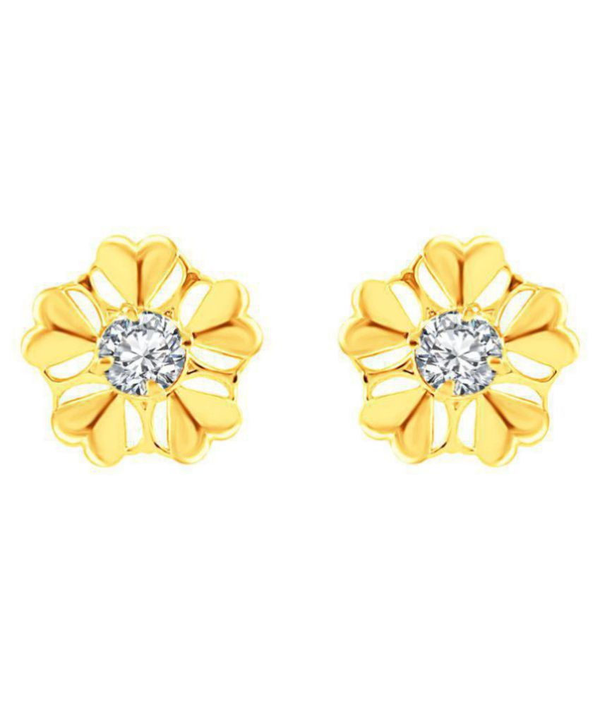 M J Fashion Jewellery Daily Wear Fancy Collection CZ Gold Plated Earrings for Girls and Women