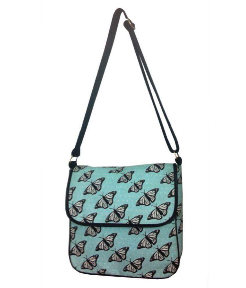 Carry On Bags Blue Canvas Satchel Bag