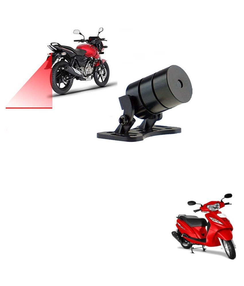 Auto Addict Scooty Styling Led Laser Safety Warning Lights Fog Lamp,Brake Lamp,Running Tail Light-12V For TVS Wego