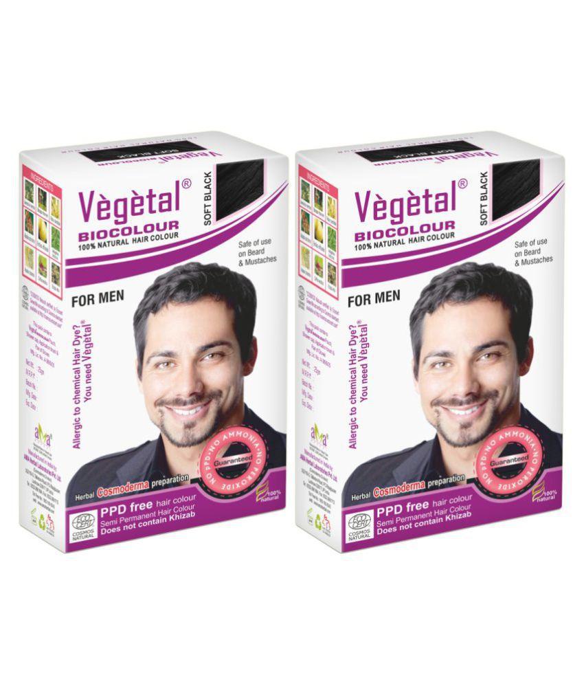Vegetal Semi Permanent Hair Color Black Black 2 g Pack of 2