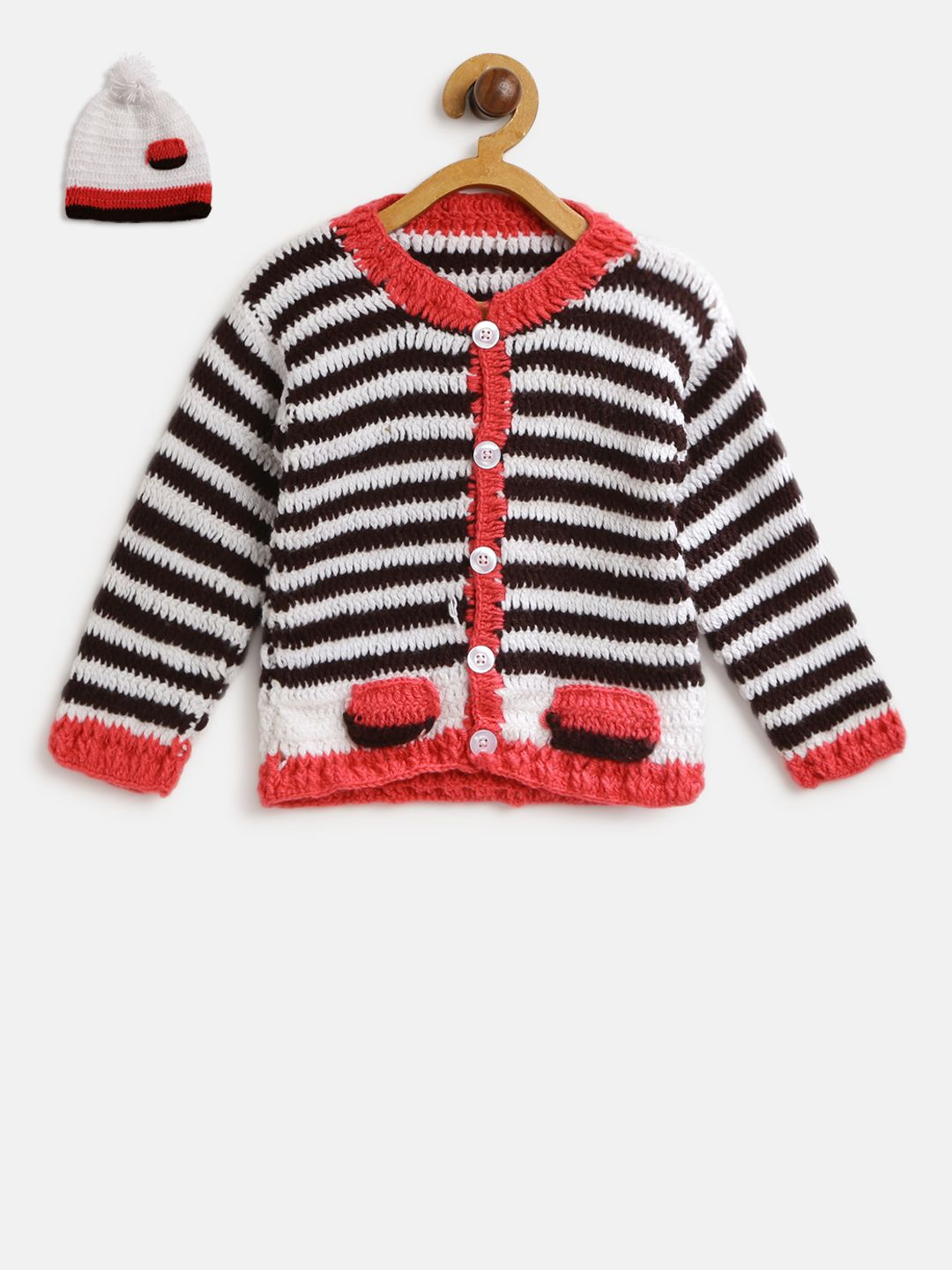 CHUTPUT Baby Boys & Baby Girls Casual Sweater Cap (Multicolor)