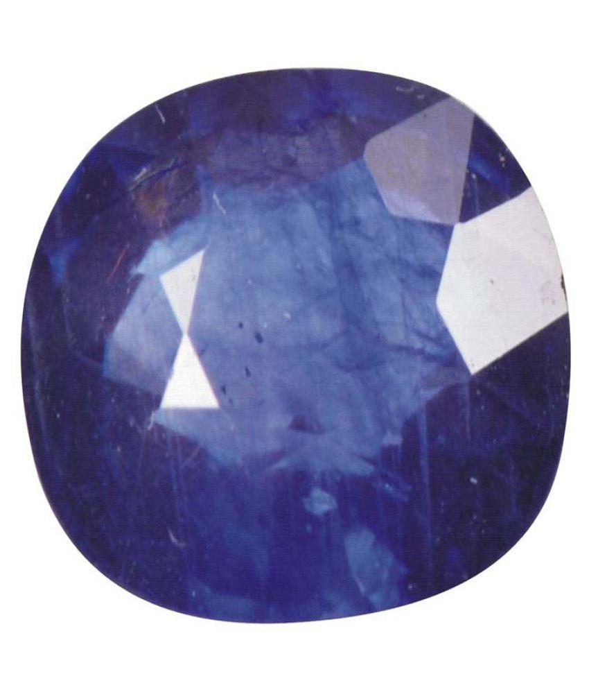 Tejvij And Sons 12.25 -Ratti Self certified Blue Sapphire Precious Gemstone